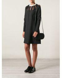 Valentino - Black Embossed Logo Crossbody Bag - Lyst