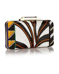 Emilio Pucci - Multicolor Beaded Satin Clutch - Lyst