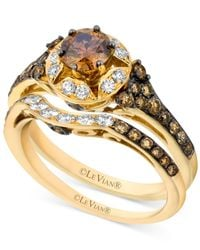 Le Vian - Brown Chocolate Diamond (1-1/4 Ct. T.w.) And White Diamond (1/4 Ct. T.w.) Ring Set In 14k Gold - Lyst