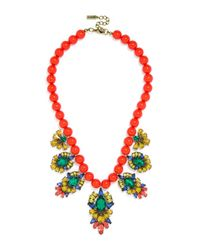 "BaubleBar - Red Athena Bib Necklace, 15"" - Lyst"