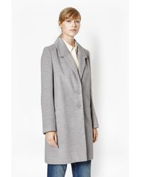 French Connection | Gray Atomic Coat | Lyst