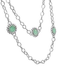 Lagos - Green Maya Silver Variscite Station Necklace - Lyst