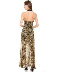 Nicholas - Multicolor Jungle Leopard Gown - Lyst