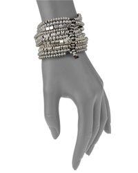 Uno De 50 | Brown Bead Layered Bracelet | Lyst