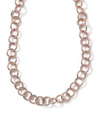 Ippolita - Pink Rose Glamazon Round Link Necklace - Lyst