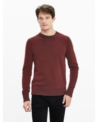 Banana Republic | Brown Plaited Filpucci Italian Wool Crew Pullover for Men | Lyst