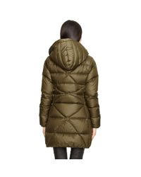 Ralph Lauren - Green Hooded Down Parka - Lyst