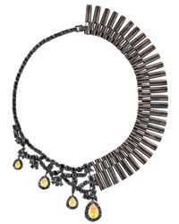 Iosselliani | Black All That Jewelry! Asymmetrical Necklace | Lyst