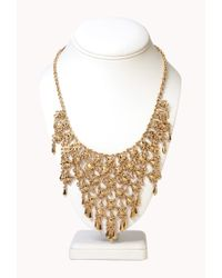Forever 21 - Metallic Regal Caged Bib Necklace - Lyst