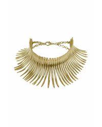TOPSHOP - Metallic Curve Stick Collar - Lyst