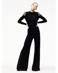 Adam Lippes - Black Ava Wide-leg Pants - Lyst