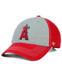 47 Brand | Red Los Angeles Angels Of Anaheim Adjustable Clean Up Cap | Lyst