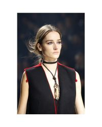 Lanvin - White Farida Crystal Pendant Necklace - Lyst