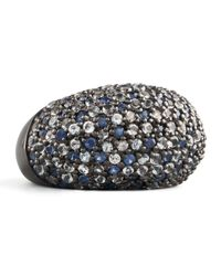 M.c.l  Matthew Campbell Laurenza - Multicolor Stardust Pave Sapphire Ring Ice - Lyst