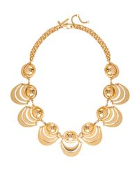Lele Sadoughi | Metallic Orbit Necklace Gold | Lyst