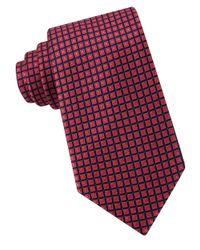 Michael Kors | Orange Box-pattern Silk Tie for Men | Lyst
