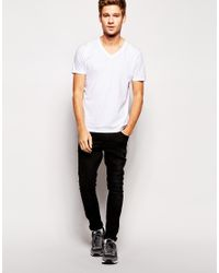 ASOS - Multicolor T-shirt With V Neck 5 Pack Save 23% for Men - Lyst