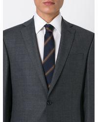 Eleventy - Blue Striped Tie for Men - Lyst