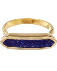Monica Vinader | Blue Gold Vermeil Lapis Lazuli Baja Ring | Lyst