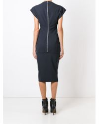 Rick Owens - Black Slash Neck Dress - Lyst