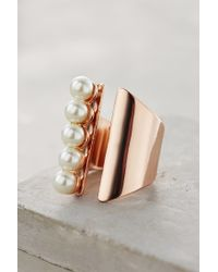 Anthropologie | White Queued Pearls Ring | Lyst