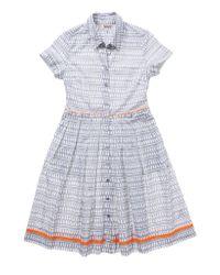 lemlem - Gray Fitted Shirt Dress - Lyst
