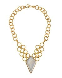 Stephanie Kantis | Metallic Silver-backed Quartz Pendant Necklace | Lyst