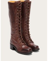 Frye | Brown Campus Lug Lace | Lyst