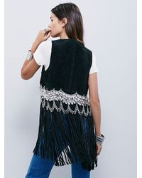 Free People - Understated Leather Womens Black Suede Vest - Lyst