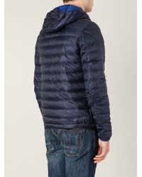 lyst moncler athenes padded jacket in blue for men rh lyst com