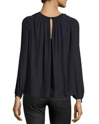 Ramy Brook - Gray Marina Twist-front Top - Lyst