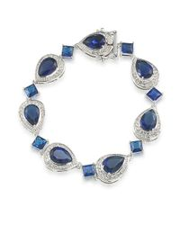 Carolee | Crystal Stems Mixed Blue Stone Bracelet | Lyst