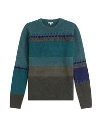 KENZO - Knitted Pullover With Wool And Cotton - Green for Men - Lyst