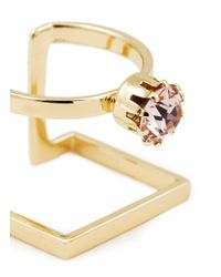 Joomi Lim - Metallic 'shape Shifter' Crystal 16k Gold Plated Ring - Lyst