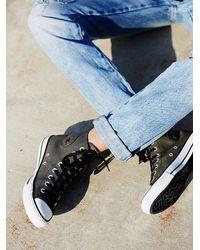 Free People - Black Vintage Leather Travel Chucks - Lyst
