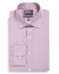 Bonobos - Purple 'daily Grind - Lark Rings' Slim Fit Wrinkle Free Dress Shirt for Men - Lyst