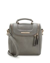 Kensie | Gray Zip-around Faux Leather Crossbody | Lyst
