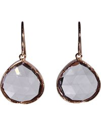 Irene Neuwirth - White Rose Of France Amethyst Drop Earrings - Lyst