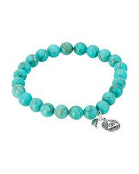 Chan Luu - Blue 7 1/2' Turquoise Stretchy Single Bracelet for Men - Lyst