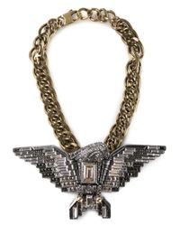 Lanvin | Metallic Eagle Necklace | Lyst