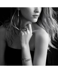David Yurman | Yellow Willow Open Three-row Bracelet With Diamonds | Lyst