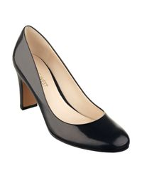 Nine West | Black Irenna Round Toe Pump | Lyst
