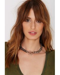 Nasty Gal - Metallic Cast Out Chain Necklace - Lyst