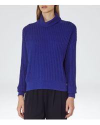 Reiss | Blue Clarisse Roll-neck Jumper | Lyst
