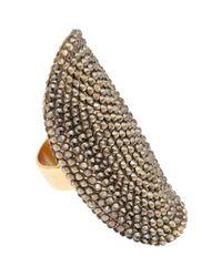 Roni Blanshay | Metallic Pavé Crystal Ring | Lyst