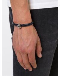 Alexander McQueen | Blue Woven Skull Bracelet | Lyst