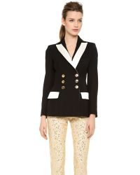 Moschino - Black Blazer with Gold Buttons - Lyst