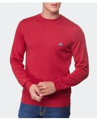 Vivienne Westwood - Red Crew Neck Sweater for Men - Lyst