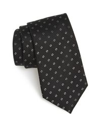 Calibrate | Black 'traill Neat' Geometric Silk Tie for Men | Lyst