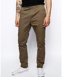74bd972f9a925e Lyst - ASOS Tapered Chinos in Natural for Men